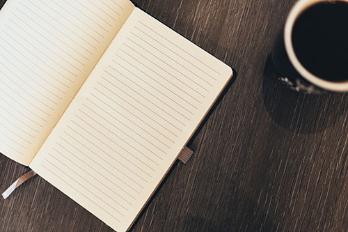 Notebook and Coffee 2 (negativespace)