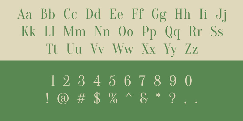 Free Font Friday - Oranienbaum Sample