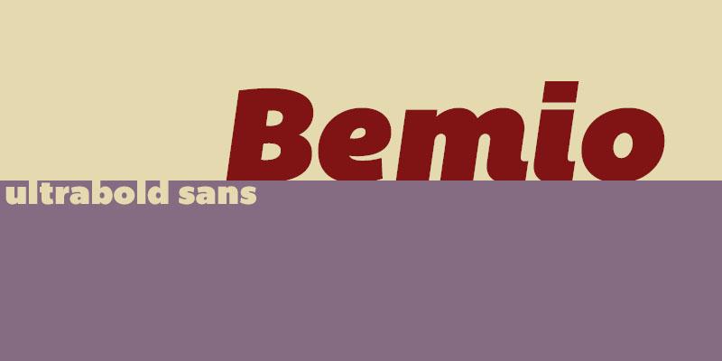 Free Font Friday - Bemio
