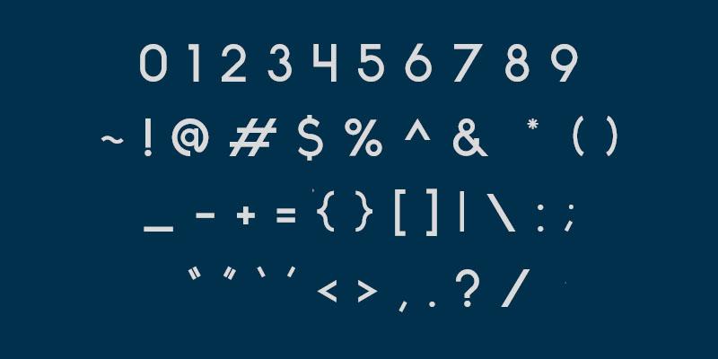 Free Font Friday - Ikaros - Characters 2
