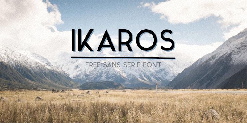 Free Font Friday - Ikaros